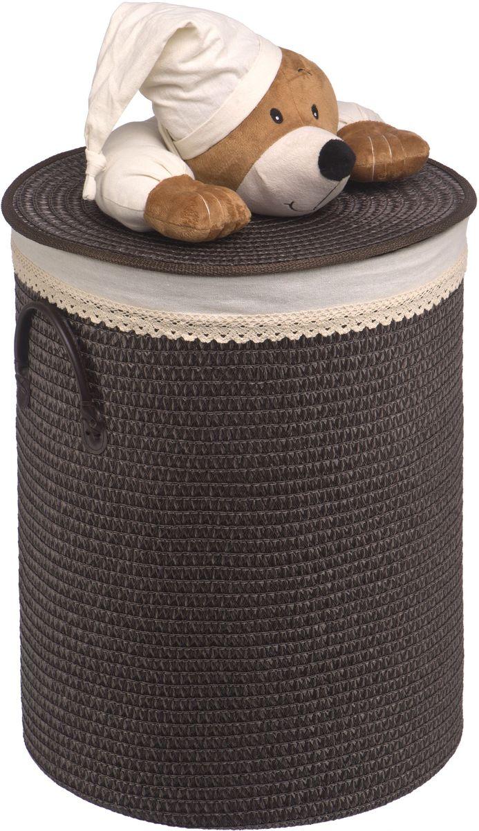 Корзина для белья Natural House Медвежонок, цвет: черный, коричневый, 42 x 42 x 55 см68/5/4Бельевая корзина Natural House с игрушкой Медвежонок отлично подойдет для детской. Корзина с мягкой игрушкой способна оживить обстановку и создать атмосферу добра и благополучия в любом помещении. В корзине легко и удобно хранить игрушки, белье и другие предметы.