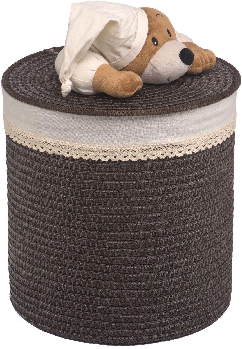 Корзина для белья Natural House Медвежонок, цвет: коричневый, 37 x 37 x 40 смQR-T-03MБельевая корзина с игрушкой Медвежонок отлично подойдет для детской. Корзина с мягкой игрушкой способна оживить обстановку и создать атмосферу добра и благополучия в любом помещении. В корзине легко и удобно хранить игрушки, белье и другие предметы.