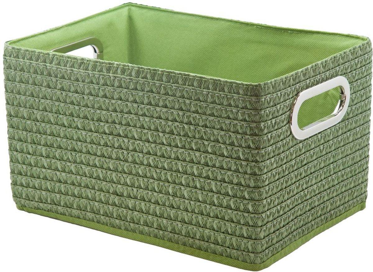 Коробка для хранения Handy Home, складная, без крышки, цвет: зеленый, 31 х 22 х 19 смQR08F-LКороб для хранения позволяет эффективно организовать пространство в вашем доме. Изделие предназначено для хранения одежды, книг, игрушек и прочих вещей. Наличие ручек по бокам позволяет легко переносить короб. Конструкция короба складная, поэтому в сложенном виде предмет занимает минимум места.