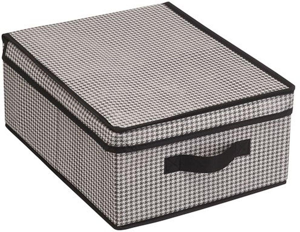 Кофр для хранения вещей Handy Home Пепита, на липучке, 40 х 30 х 16 смUC-10Кофр для хранения Handy Home станет не только удобным решением для хранения вещей но и эстетическим элементом декора интерьера. Изделие выполнено из нетканого материала. Крышка кофра на липучке. Конструкция короба складная, поэтому в сложенном виде он занимает минимум места.