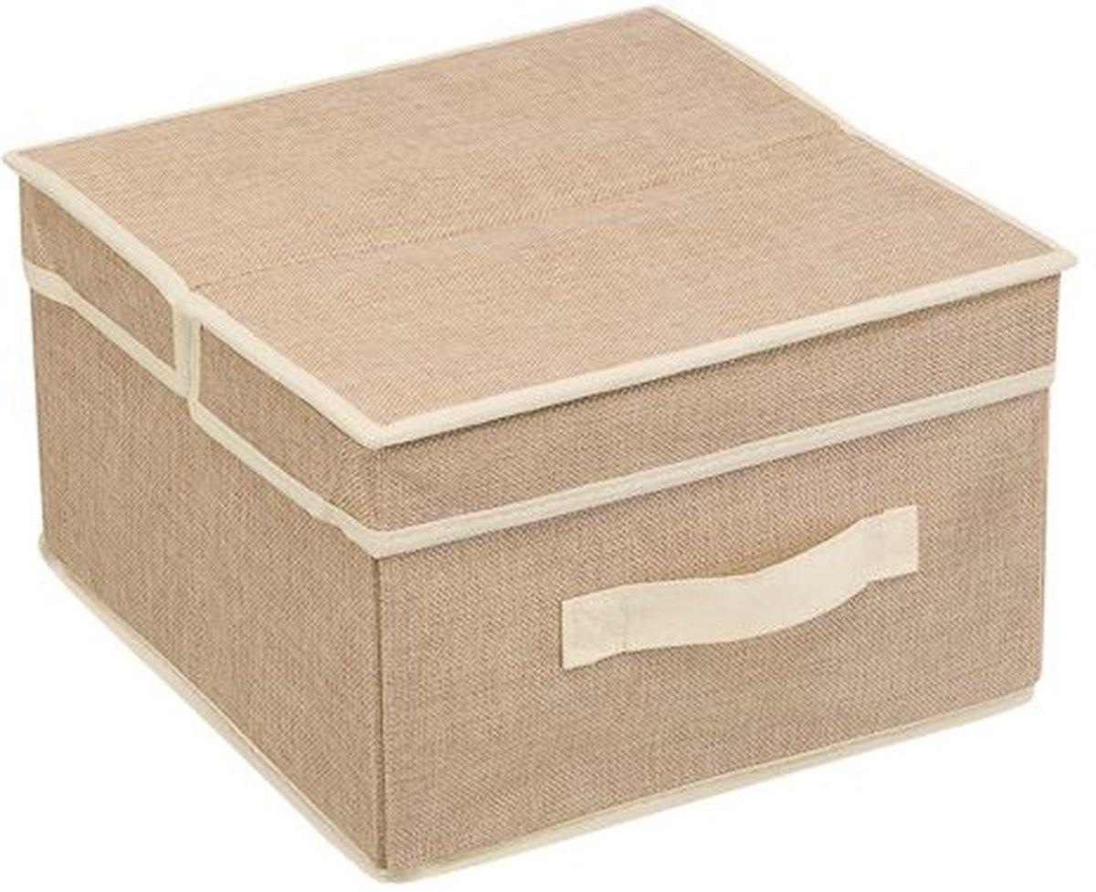 Кофр для хранения вещей Handy Home Лен, 30 х 30 х 18 смБрелок для ключейКороб квадратный складной с крышкой. Занимает минимум места в сложенном виде. Естественная вентиляция: материал позволяет воздуху свободно проникать внутрь, не пропуская пыль. Подходит для хранения одежды, обуви, мелких предметов, документов и многого другого.