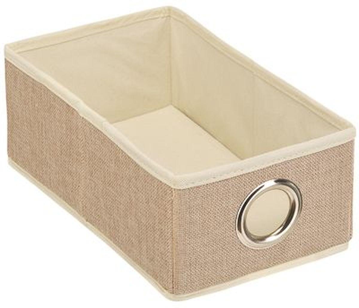 Кофр для хранения вещей Handy Home Лен, 16 х 28 х 11 смUC-30Короб открытый прямоугольный складной. Занимает минимум места в сложенном виде. Подходит для хранения одежды, обуви, мелких предметов, документов и многого другого.