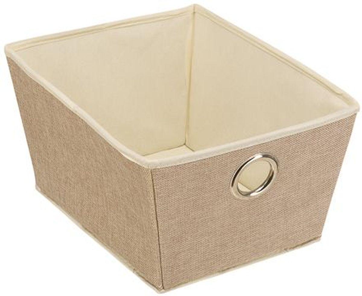 Кофр для хранения вещей Handy Home Лен, 25 х 33 х 18 смБрелок для ключейКороб Handy Home - открытый трапециевидный. Короб имеет жесткий каркас, за счет которого держит форму. Подходит для хранения одежды, обуви, мелких предметов, документов и многого другого.