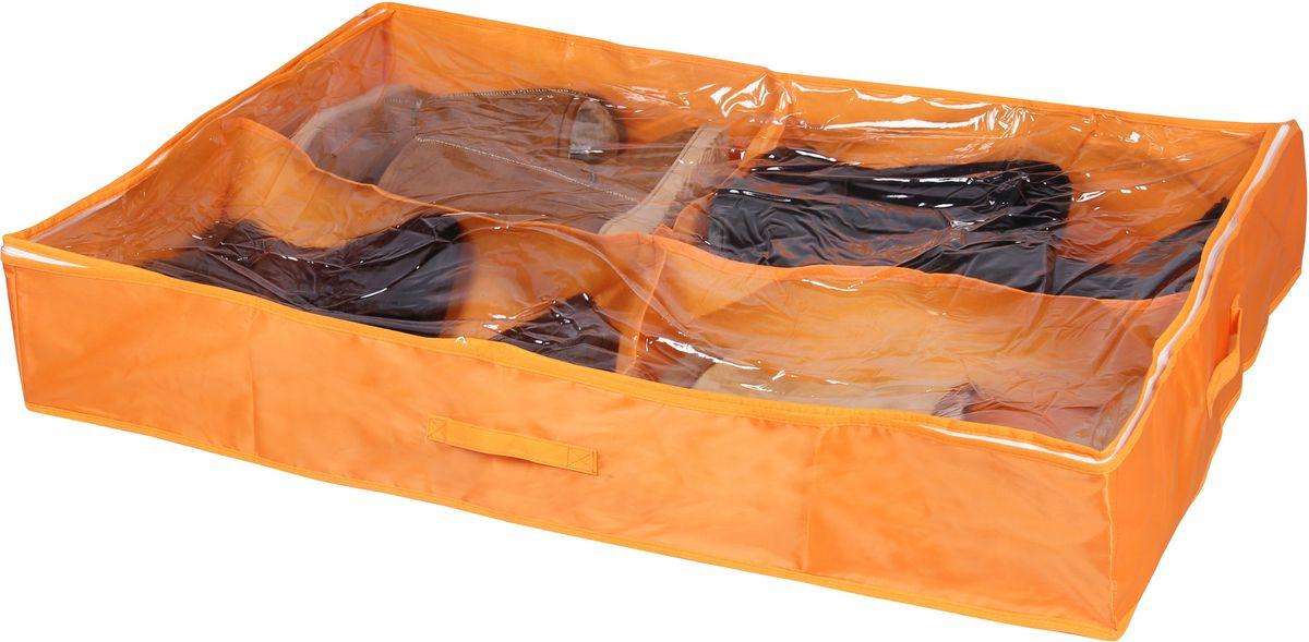 Кофр для хранения обуви Handy Home Апельсин, 4 секции, 94 х 60 х 15 смUC-35Короб складной с секциями. Занимает минимум места в сложенном виде. Подходит для хранения обуви и других вещей. Короб снабжен прозрачным окошком, что позволяет легко просматривать содержимое.