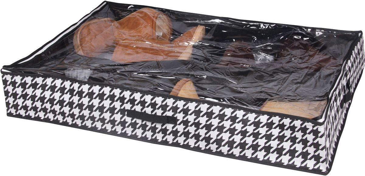 Кофр для хранения обуви Handy Home Пепита, 4 секции, 94 х 60 х 15 смБрелок для ключейКороб складной с секциями. Занимает минимум места в сложенном виде. Подходит для хранения обуви и других вещей. Короб снабжен прозрачным окошком, что позволяет легко просматривать содержимое.