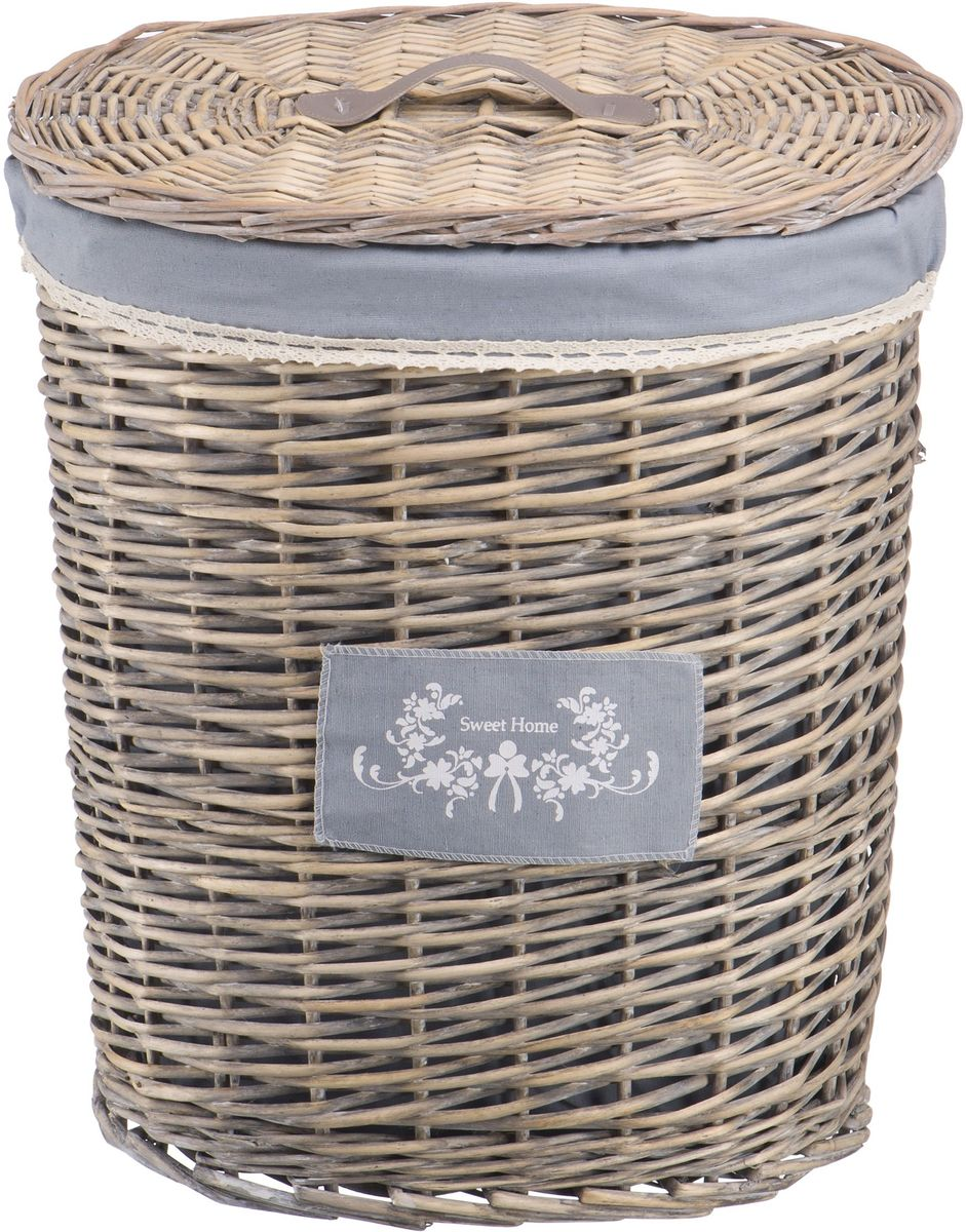 Корзина для белья Natural House Лен, цвет: серый, 39 х 27 х 45 смEW-18 MБельевая корзина Natural House из лозы ивы не только удобна, практична, но и прекрасно выглядит. Высокое качество и натуральные материалы гармонично сочетаются и создают в доме уют и теплое настроение.В комплекте с корзиной идет съемный чехол, который легко снимается и стирается.