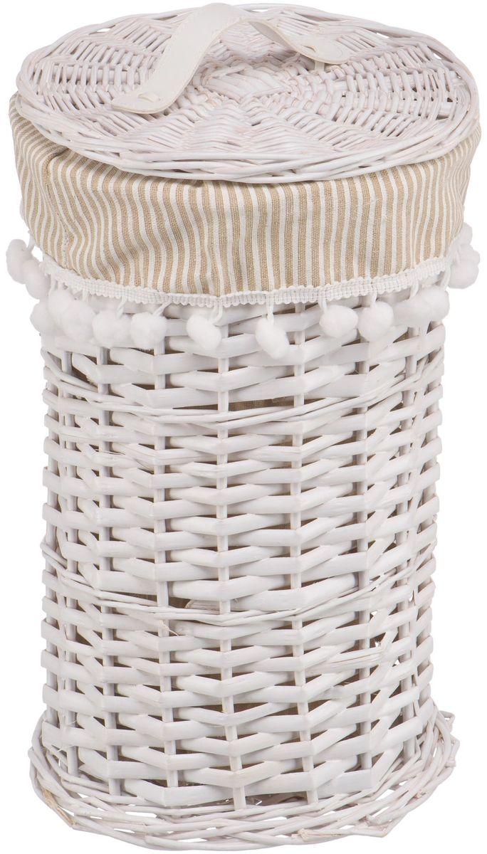Корзина для белья Natural House Колокольчик, цвет: белый, 20 х 20 х 34 смEW-41 SБельевая корзина из лозы ивы не только удобна, практична, но и прекрасно выглядит. Высокое качество и натуральные материалы гармонично сочетаются и создают в доме уют и теплое настроение. В комплекте с корзиной идет съемный чехол, который легко снимается и стирается.