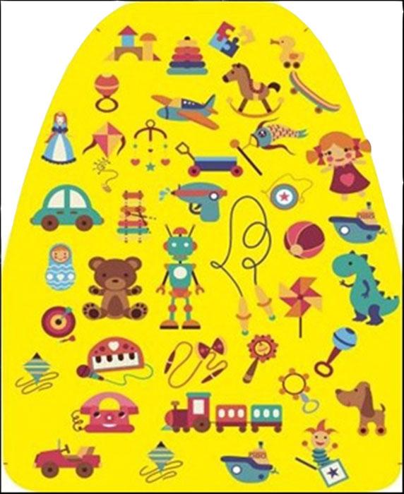 Защитная накидка на сиденье Антей Игрушки, с рисунком, цвет: желтыйА-515Защита сиденья от грязных ног ребенка с рисунком. Изготовлена из ПВХ. Держится с помощью двух резинок, закрепляемых на автомобильное кресло. Легко моется. Размер 46х62 см.