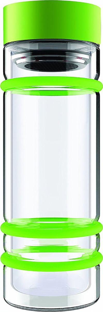 Бутылка Asobu Bumper bottle, цвет: зеленый, 400 млDWG12 greenБутылка Asobu Bumper bottle с двойными стеклянными стенками, ситечком и яркими силиконовыми бамперами. Идеальна для заваривания самых вкусных чаев!Asobu никогда не использует бесполезных деталей. В Bumper bottle силиконовые кольца использованы не только ради придания яркого внешнего вида бутылке, они составляют важную функциональную составляющую - защиту бутылки при падении.Инструкция по применению:Снимите крышку бутылки.Засыпьте чай в ситечко.Наполните бутылку горячей водой.Подождите 2-3 минуты пока чай заварится.Материал: СтеклоВысота : 22,5 смДиаметр : 8,5 см