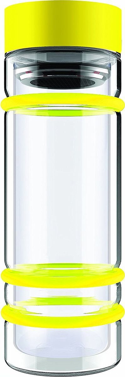 Бутылка Asobu Bumper bottle, цвет: желтый, 400 млDWG12 yellowБутылка Asobu Bumper bottle с двойными стеклянными стенками, ситечком и яркими силиконовыми бамперами. Идеальна для заваривания самых вкусных чаев!Asobu никогда не использует бесполезных деталей. В Bumper bottle силиконовые кольца использованы не только ради придания яркого внешнего вида бутылке, они составляют важную функциональную составляющую - защиту бутылки при падении.Инструкция по применению:Снимите крышку бутылки.Засыпьте чай в ситечко.Наполните бутылку горячей водой.Подождите 2-3 минуты пока чай заварится.Материал: СтеклоВысота : 22,5 смДиаметр : 8,5 см