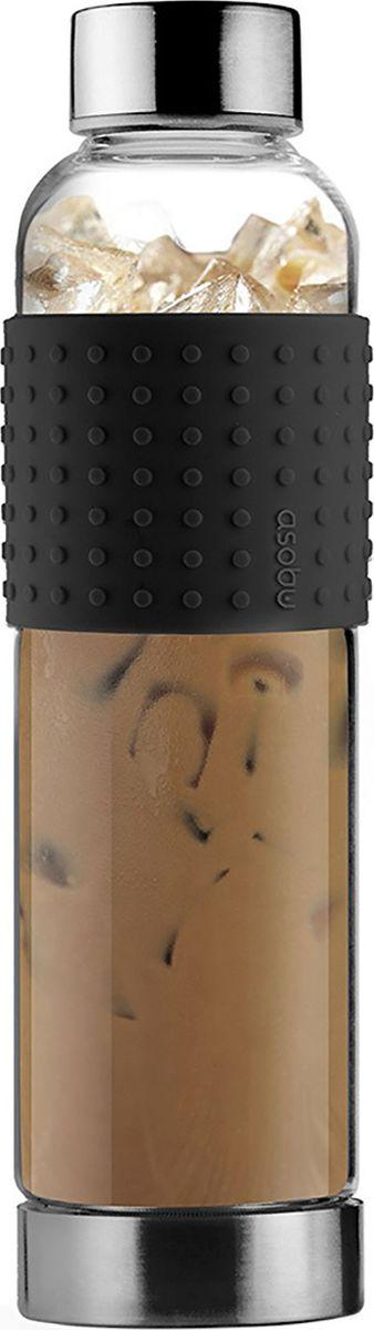 Бутылка Asobu Ice t 2 go, цвет: черный, 400 млIT2GO blackБутылка Asobu Ice t 2 go меет ряд функциональных особенностей, например, откручивающееся дно. Дело в том, что ситечко для заварки распагается на дне бутылки, это сделано для лучшего заваривания напитка. А для удобного удерживания Ice t 2 go обернута рильефным силиконовым кольцом, которое выступает ярким пятном и отлично вписывается в общую концепцию Asobu. Засыпьте ваш любимый чай в ситечко для заварки, залейте горячей водой, добавьте несколько кубиков льда и вы получите идеальный холодный чай в дорогу. Особенности:Можно мыть в посудомоечной машине.BPA FREE (материал, из которого изготовлено изделие, не содержит Бисфенол А).Термостойкое стекло.Силиконовая накладка.Емкость 400 мл.