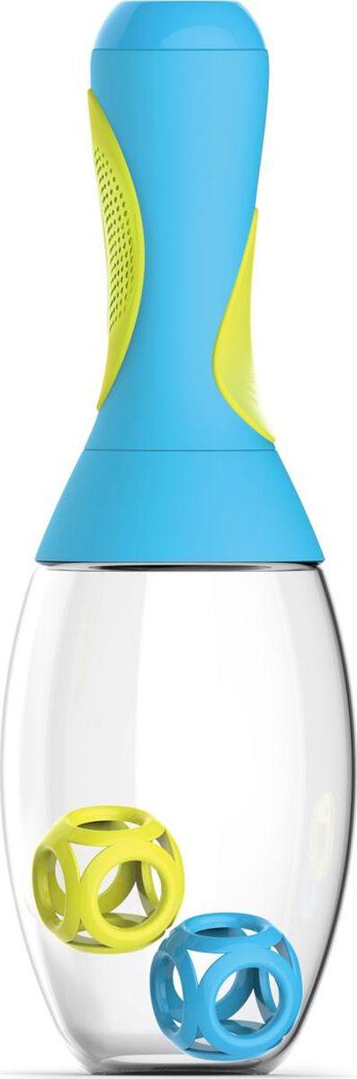 Стакан-шейкер Asobu Samba shaker, цвет: голубой, желтый, 600 млRS14 blue-yellowСтакан-шейкер Asobu Samba shaker является практичным и забавным способом смешать Ваш напиток перед употреблением даже на ходу. Идеально подходит, чтобы принести с собой в спортзал или для использования дома, на работе, в школе.Его выделяет не только оригинальный внешний вид, напоминающий маракас, но и многие выдающиеся конструктивные особенности, начиная с большой емкости в 600 мл., и эргономичной, противоскользящей резиновой ручки. Ручка также имеет скрытый отсек для удобного хранения порошковой смеси. В комплекте к шейкеру идут два мячика для лучшего размешивания напитков Особенности:Предназначен для холодных и горячих напитков.Изготовлен из революционного высокотехнологичного материала. Чрезвычайно ударопрочен.BPA FREE (материал, из которого изготовлено изделие, не содержит Бисфенол А).Емкость для хранения порошковых смесей.Можно мыть в посудомоечной машине.Шейкер доступен в пяти ярких цветах.Размеры: Высота: 29 смДиаметр: 9 см