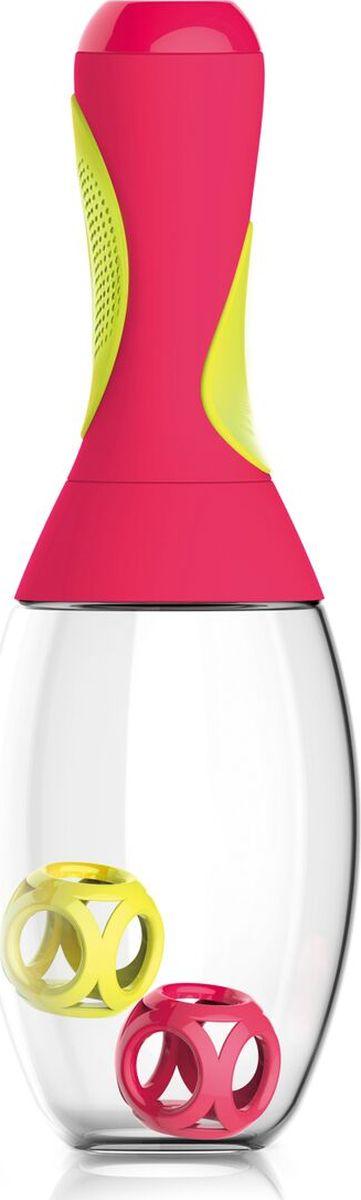 Стакан-шейкер Asobu Samba shaker, цвет: красный, желтый, 600 млRS14 red-yellowСтакан-шейкер Asobu Samba shaker является практичным и забавным способом смешать Ваш напиток перед употреблением даже на ходу. Идеально подходит, чтобы принести с собой в спортзал или для использования дома, на работе, в школе.Его выделяет не только оригинальный внешний вид, напоминающий маракас, но и многие выдающиеся конструктивные особенности, начиная с большой емкости в 600 мл., и эргономичной, противоскользящей резиновой ручки. Ручка также имеет скрытый отсек для удобного хранения порошковой смеси. В комплекте к шейкеру идут два мячика для лучшего размешивания напитков Особенности:Предназначен для холодных и горячих напитков.Изготовлен из революционного высокотехнологичного материала. Чрезвычайно ударопрочен.BPA FREE (материал, из которого изготовлено изделие, не содержит Бисфенол А).Емкость для хранения порошковых смесей.Можно мыть в посудомоечной машине.Шейкер доступен в пяти ярких цветах.Размеры: Высота: 29 смДиаметр: 9 см