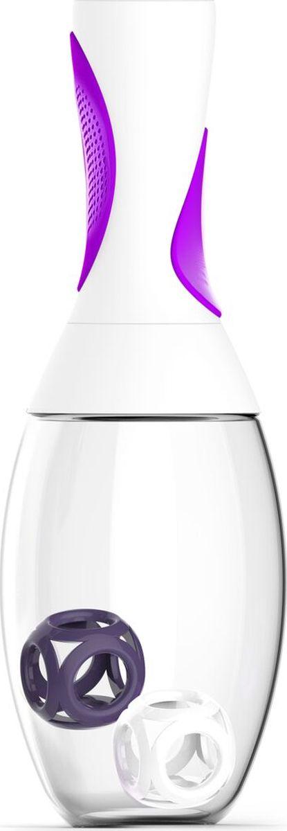 Стакан-шейкер Asobu  Samba shaker , цвет: белый, фиолетовый, 600 мл - Шейкеры и бутылки
