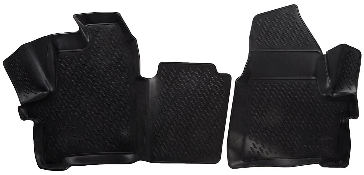 Коврики в салон атомобиля Novline-Autofamily, для Ford Tourneo Custom (1+1 seats) (13-), 2 штF520250E1Коврики в салон Novline-Autofamily не только улучшат внешний вид салона вашего автомобиля, но и надежно уберегут его от пыли, грязи и сырости, а значит, защитят кузов от коррозии. Полиуретановые коврики для автомобиля гладкие, приятные и не пропускают влагу. Автомобильные коврики в салон учитывают все особенности каждой модели и полностью повторяют контуры пола. Благодаря этому их не нужно будет подгибать или обрезать. И самое главное - они не будут мешать педалям.Полиуретановые автомобильные коврики для салона произведены из высококачественного материала, который держит форму и не пачкает обувь. К тому же, этот материал очень прочный (его, к примеру, не получится проткнуть каблуком).Некоторые автоковрики становятся источником неприятного запаха в автомобиле. С полиуретановыми ковриками Novline-Autofamily вы можете этого не бояться.Ковры для автомобилей надежно крепятся на полу и не скользят, что очень важно во время движения, особенно для водителя.Автоковры из полиуретана надежно удерживают грязь и влагу, при этом всегда выглядят довольно опрятно. И чистятся они очень просто: как при помощи автомобильного пылесоса, так и различными моющими средствами.