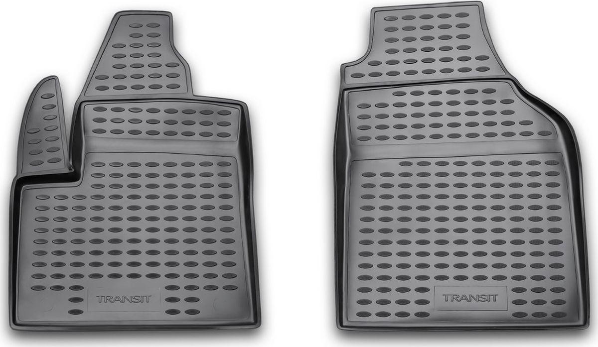 Коврики в салон автомобиля Novline-Autofamily, для FORD Transit Connect, 2 части 2002-> (полиуретан)NLC.16.13.210Качественный продукт, новый полимерный материал, коврики оснащены фиксаторами, защита от западания педали газа, антискользящий рельеф, идеальная подходимость, гигиенические сертификаты, экспортируются в западную Европу.