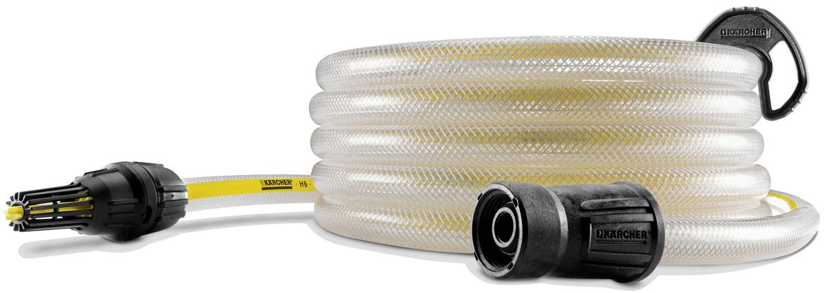 Шланг поливочный Karcher SH, 5 м26431000Всасывающий шланг с обратным клапаном для использования с аппаратами высокого давления K 4 - K 7. Позволяет использовать воду из бочек и других альтернативных источников воды. Длина 5 метров.