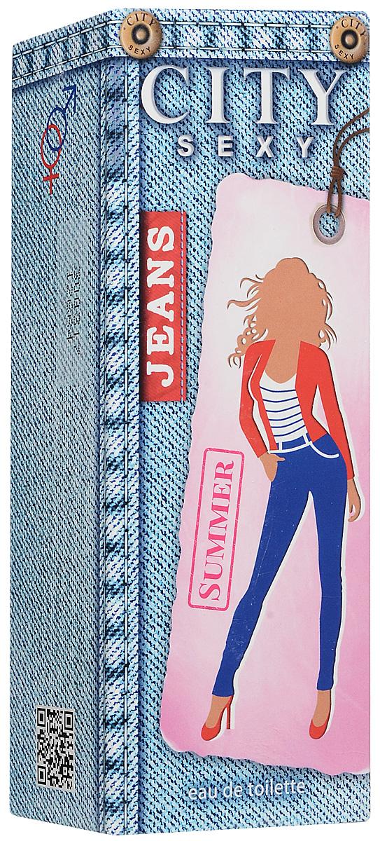 City Sexy Jeans Summer туалетная вода, 60 мл2001012647Яркий, искристый аромат CITY SEXY Jeans Summer вдохновлен молодостью, задором, красочным весельем и неповторимой свежестью летних каникул на солнечном морском побережье.Настоящие модницы оценят соблазнительные аккорды лимона, мандарина и зелёного яблока, переходящие в цветочное «сердце» с нежными нотами жасмина и прекрасного пиона. Согревающий чувственный шлейф подарит радостные воспоминания о незабываемых моментах и вдохновит на новые яркие приключения!