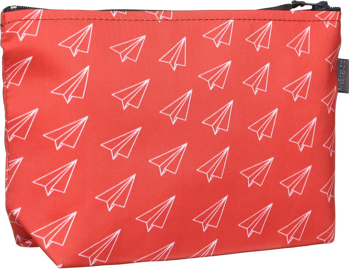 Косметичка ОРЗ-дизайн Самолетики оригами, цвет: красный, белый. Орз-0373MX3024820_WM_SHL_010Косметичка Самолетики оригами - оригинальный и стильный аксессуар, который придется по душе истинным модникам и поклонникам интересного и необычного дизайна.Качественная сумочка выполнена из прочного текстиля, который надежно защитит ваши вещи от пыли и влаги, и оформлена оригинальным принтом с бумажными самолетами. Рисунок нанесён специальным образом и защищён от стирания. Изделие идеально подходит для хранения косметики, таблеток, украшений, ключей, зарядных устройств, мобильного телефона или документов. Простая, но в то же время стильная косметичка определенно выделит своего обладателя из толпы и непременно поднимет настроение. А яркий современный дизайн, который является основной фишкой данной модели, будет радовать глаз.