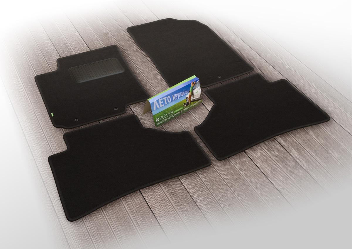 Коврики в салон автомобиля Klever Standard, для Isuzu D-Max 2016->, пикап, 4 штKLEVER02210101210khТекстильные коврики Klever Standard можно эксплуатировать круглый год: с ними комфортно в теплое время и практично в слякоть. Текстильные коврики Klever эффективно задерживают грязь и влагу благодаря своей основе.Коврики изготавливаются индивидуально для каждой модели автомобиля. Шьются из прочного ковролина ведущего европейского производителя. Изделие легко чистится пылесосом и щеткой. Комплектуются фиксаторами для надежного крепления к полу автомобиля. Также на водительском коврике предусмотрен полиуретановый подпятник. Уважаемые клиенты, обращаем ваше внимание, что фотографии на коврики универсальные и не отражают реальную форму изделия. При этом само изделие идет точно под размер указанного автомобиля.