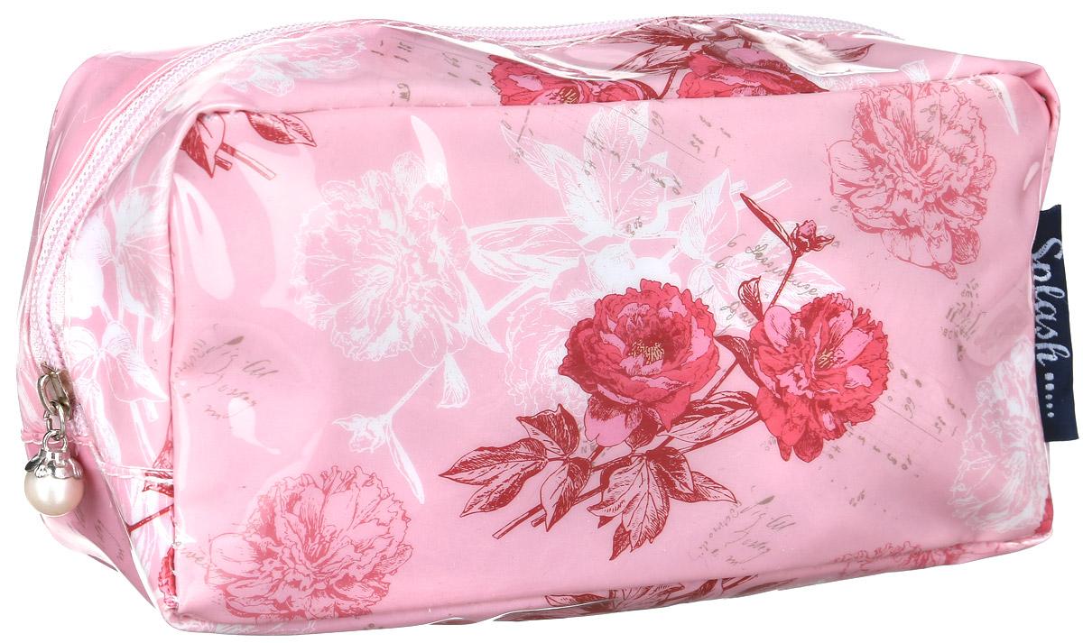 Косметичка женская Mitya Veselkov, цвет: розовый. KOSM10-FLOWERS-PINK-simSARMA норка С030-1Стильная женская косметичка Mitya Veselkov выполнена из качественного полиэстера.Изделие содержит одно вместительное отделение, которое закрывается на застежку-молнию.