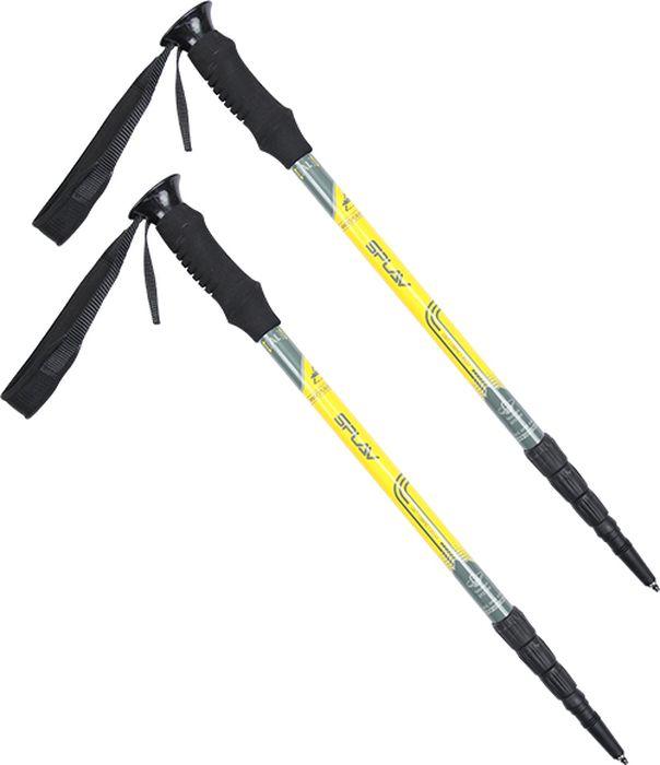 Палки для трекинга Сплав  Unit Compact Alu , цвет: желтый, 61-135 см, 2 шт - Скандинавская ходьба