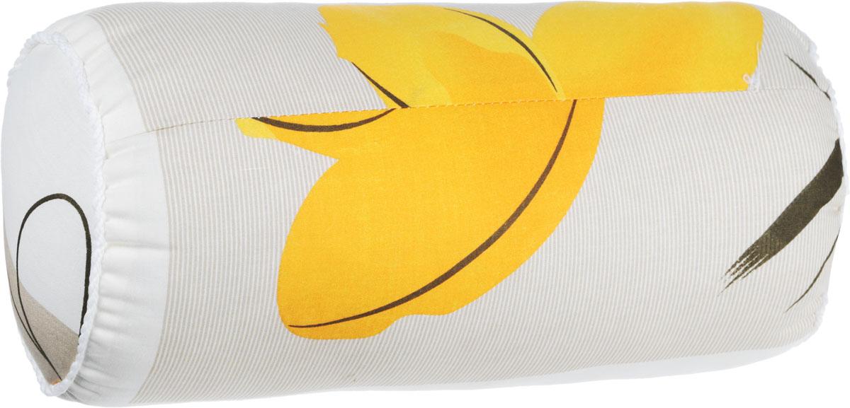 Подушка декоративная Ecotex Бочонок, наполнитель: полиэстер, цвет: молочный, коричневый, оранжевый, 36 х 17 х 17 смU210DFДекоративная подушка Ecotex Бочонок прекрасно дополнит интерьер спальни или гостиной. Чехол подушки выполнен из полиэстера. Внутри находится мягкий наполнитель - 100% полиэстер. Благодаря молнии, чехол легко снимается.Основные особенности подушки Ecotex Бочонок:- экологичность;- гигиеничность: не впитывает запахи и пыль;- теплоизоляция и воздухопроницаемость;- долговечность: в течение долгого времени сохраняет объем и упругость;- легкость в уходе: легко стирается, быстро сохнет.
