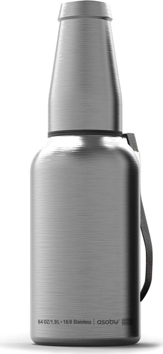 Пивной гроулер-термос Asobu The Mighty Growler, цвет: стальной, 1,9 лG4G silverПивной гроулер-термос Asobu The Mighty Growler - восхитительное новое дополнение в нашей серии гроулеров! Mighty Growler 64 (унций) (1,9 л) с пожизненной гарантией поставляется в комплекте со стильным пивнымстаканом из нержавеющей стали, что делает его однозначным выбором для любителя пива! Этотэлегантный гроулер оснащен усовершенствованной герметичной крышкой, которая не дает выходитьуглекислому газу и сохраняет пиво свежим и холодным. Удобное для питья широкое горлышко и возможность пополнения делают Mighty Growler идеальнымгроулером для тех, кто любит пить пиво понемногу. Высококачественная пищевая нержавеющая сталь 18/8является безопасной и надежной альтернативой стеклу. В комплект с гроулером входит ремешок дляудобства переноски. Любители пива по достоинству оценят современный подход к традиционному гроулеру. Наслаждайтесьлюбимым напитком – делайте это стильно с MightyGrowler!