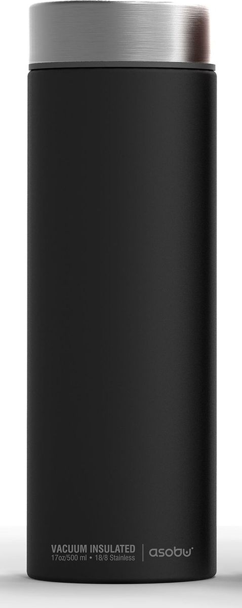 Термос Asobu Le Baton Travel Bottle, цвет: черный, стальной, 500 мл115610Asobu – бренд посуды для питья, выделяющийся творческим, оригинальным дизайном и инновационными решениями.Asobu разработан Ad-N-Art в Канаде и в переводе с японского означает весело и с удовольствием. И действительно, только взгляните на каталог представленных коллекций и вы поймете, что Asobu - посуда, которая вдохновляет!Кроме яркого и позитивного дизайна, Asobu отличается и качеством материалов из которых изготовлена продукция – это всегда чрезвычайно ударопрочный пластик и 100% BPA Free.За последние 5 лет, благодаря своему дизайну и функциональности, Asobu завоевали популярность не только в Канаде и США, но и во всем мире!Стильная термокружка для путешествий Le Baton от Asobu держит напитки холодными в течение 24 часов и горячими до 8 часов. Тонкий дизайн этой модной термокружки делают ее идеальным спутником в дороге. Le Baton легко помещается в сумку для ноутбука, ручную кладь или рюкзак. Ошеломляющее матовое покрытие в сочетании со стильной крышкой делает эту термокружку обязательной для всех модников.Особенности:Нержавеющая сталь.Держит напиток горячим до 8 часов, холодным – 24 часа.Объем 500 мл.Изделия из нержавеющей стали имеют пожизненную гарантию.Термокружка идеальна для путешествий, кемпинга, прогулок, езды на велосипеде и т.д.Доступна в 4 цветовых комбинациях.