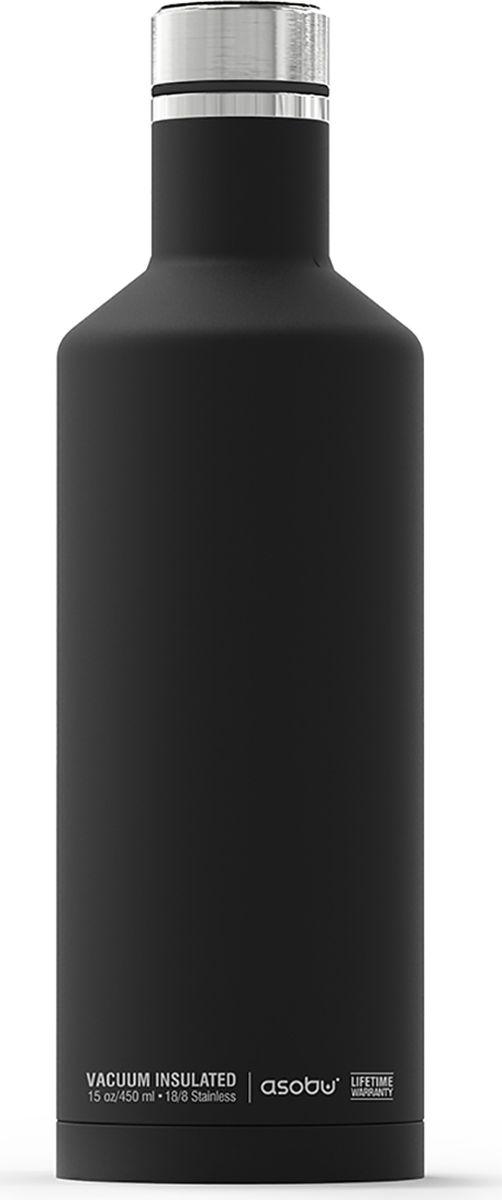 Термобутылка Asobu Times Square Travel Bottle, цвет: черный, 450 млSBV15 blackТермобутылка Asobu Times Square Travel Bottle обладает свойфтвомдолговечности, гладкое матовое покрытие выгодно выделяют эту термобутылку для напитков среди других. Строгая обтекаемая форма позволяет легко уложить термобутылку в Ваш багаж, ручную кладь или рюкзак. Times Square Travel Bottle, объемом 450мл., идеально вписывается во все стандартные подстаканники. Прочные двойные стенки из нержавеющей стали с вакуумной изоляцией гарантируют, что ваш напиток останется холодным в течение 24 часов, и горячим до 8 часов. Заявите о себе в офисе, в школе или на работе с Times square travel bottle - термобутылкой для путешествий первого класса! Держит тепло: 8 часовДержит холод: 24 часаВысота: 23,5 смДиаметр: 7,5 см