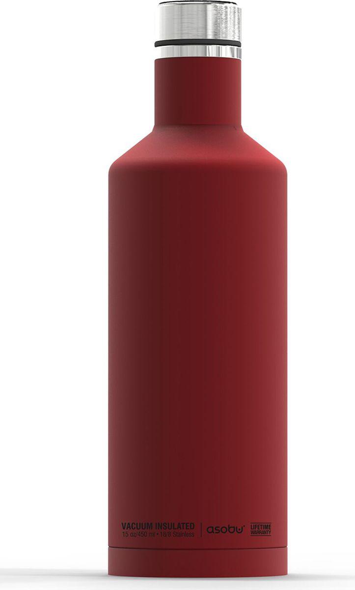 Термобутылка Asobu Times Square Travel Bottle, цвет: красный, 450 млSBV15 redТермобутылка Asobu Times Square Travel Bottle обладает свойфтвомдолговечности, гладкое матовое покрытие выгодно выделяют эту термобутылку для напитков среди других. Строгая обтекаемая форма позволяет легко уложить термобутылку в Ваш багаж, ручную кладь или рюкзак. Times Square Travel Bottle, объемом 450мл., идеально вписывается во все стандартные подстаканники. Прочные двойные стенки из нержавеющей стали с вакуумной изоляцией гарантируют, что ваш напиток останется холодным в течение 24 часов, и горячим до 8 часов. Заявите о себе в офисе, в школе или на работе с Times square travel bottle - термобутылкой для путешествий первого класса! Держит тепло: 8 часовДержит холод: 24 часаВысота: 23,5 смДиаметр: 7,5 см