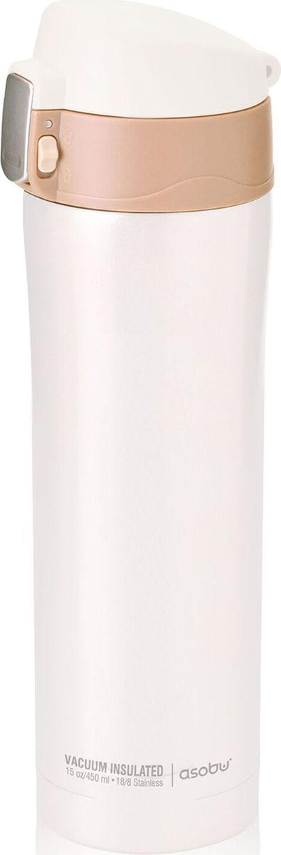 Термокружка Asobu Diva Cup, цвет: белый, 450 млV600 white-brownAsobu – бренд посуды для питья, выделяющийся творческим, оригинальным дизайном и инновационными решениями.Asobu разработан Ad-N-Art в Канаде и в переводе с японского означает весело и с удовольствием. И действительно, только взгляните на каталог представленных коллекций и вы поймете, что Asobu - посуда, которая вдохновляет!Кроме яркого и позитивного дизайна, Asobu отличается и качеством материалов из которых изготовлена продукция – это всегда чрезвычайно ударопрочный пластик и 100% BPA Free.За последние 5 лет, благодаря своему дизайну и функциональности, Asobu завоевали популярность не только в Канаде и США, но и во всем мире!Diva cup – это серия термокружек пастельных тонов от Asobu. И пусть Вас это не удивляет, Asobu – это не только яркие, кричащие цвета и необычные дизайны! У нас Вы найдете широкий ассортимент продукции этой канадской фирмы в классическом, привычном для многих, стиле. С Diva cup Вы можете не беспокоиться за проливание, система блокировки крышки не даст напитку пролиться. Термокружку можно мыть в посудомоечной машине.Особенности:Защита от проливания.Система блокировка крышки.Вакуумная изоляция, двойные стенки.Сохраняет напиток горячим в течение 8 часов, холодным – до 24 часов.BPA FREE (материал, из которого изготовлено изделие, не содержит Бисфенол А).450 мл.Идеально подходит для:- офиса;- активного отдыха;- тренажерный зала;- использования в автомобиле.Высота: 24,5 смДиаметр: 7,5 см
