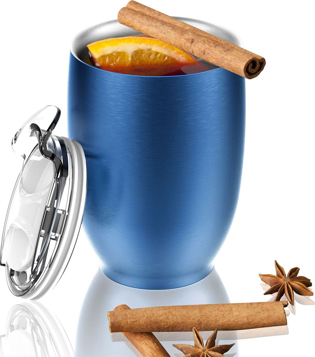 Термокружка Asobu Imperial Beverage, цвет: голубой, 300 млVIC3 blueТермокружка Asobu Imperial Beverage принадлежит к тому типу кружек, которые мы используем дома или на работе. Однако, Imperial beverage обладает рядом преимуществ, выделяющих ее среди прочих.Во-первых, Imperial beverage -это термокружка с двойными стенками и вакуумной изоляцией, которая будет дольше удерживать Ваш напиток горячим. Во-вторых, она изготовлена из 18/8 нержавеющей стали. Безвоздушное пространство между стенками не позволяет кружке нагреваться, и Вы можете пить горячий кофе, не дожидаясь, когда кружка остынет, она всегда остается холодной! В-третьих, крышка изготовлена из легкого и безопасного пластика, она разбирается на составные части, ее удобно мыть, как вручную, так и в посудомоечной машине. Также крышка имеет гибкую ребристую прокладку по краю, позволяющую лучше изолировать напиток. Да, и не обязательно полностью снимать крышку, чтобы попить: на крышке есть отверстие для быстрого доступа к напитку. И, наконец, у этой кружки такой привлекательный внешний вид!Материал: СтальВысота: 13 смДиаметр: 9 см