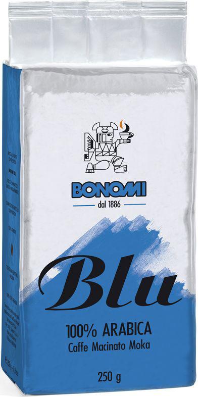 Bonomi Blu Moka кофе молотый, 250 гCBNM00-000010Сделано из лучших в мире сортов арабики, одна из старейших традиционных смесей Бономи. Обжарка темная, превосходный баланс горчинки и кислинки. Производство Италия.