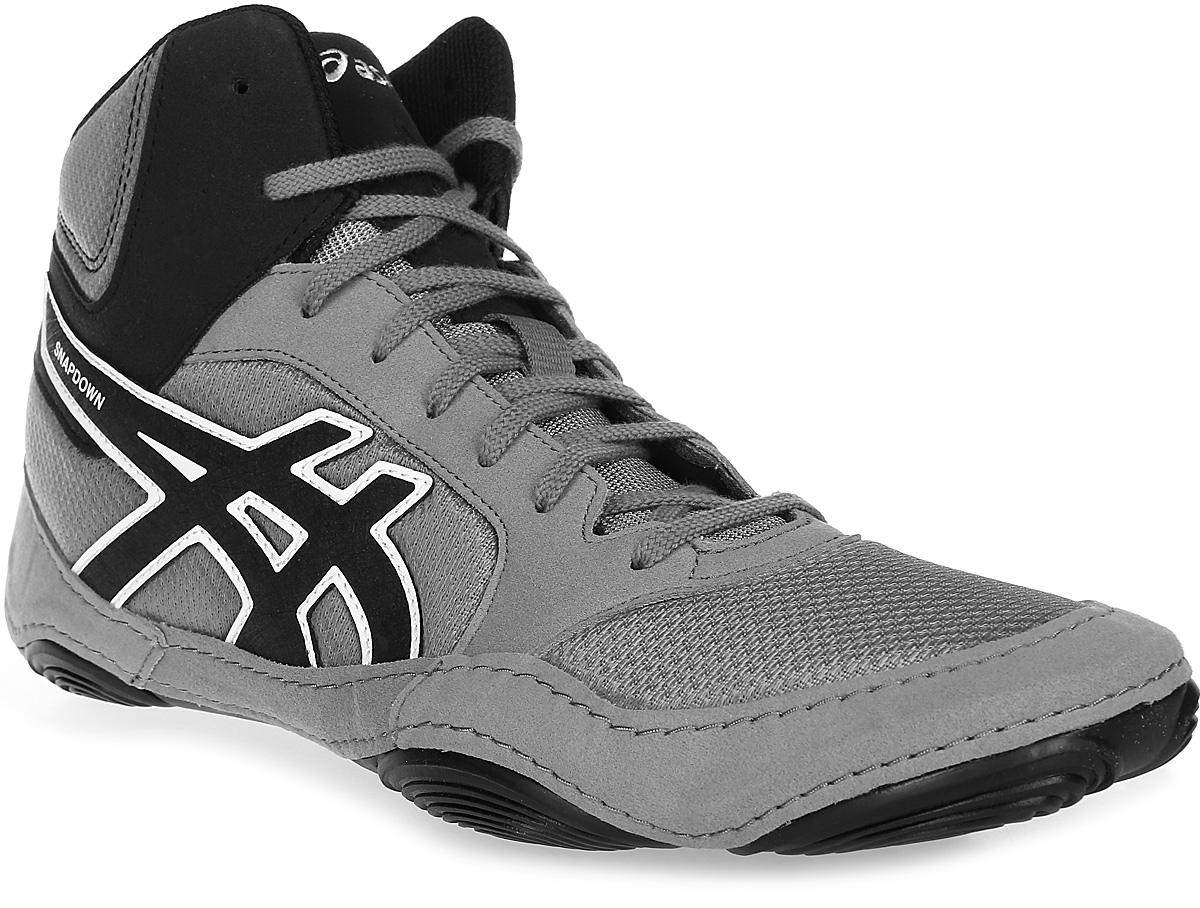 Борцовки мужские Asics  Snapdown 2 , цвет: серый, черный. J703Y-9690. Размер 10 (42,5) - Единоборства