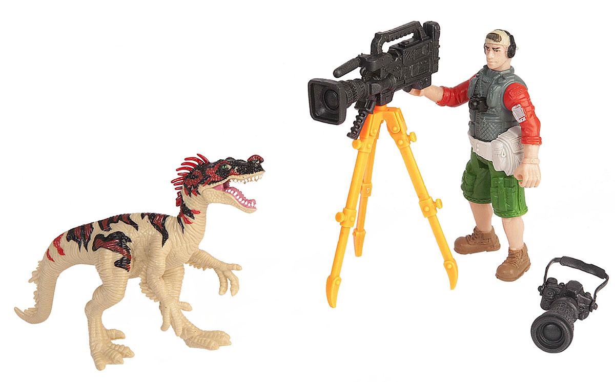 Chap Mei Игровой набор Динозавр Эораптор и кинооператор