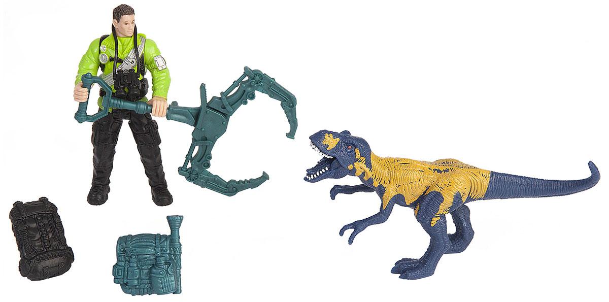Chap Mei Игровой набор Динозавр Мегалозавр и ловец динозавров