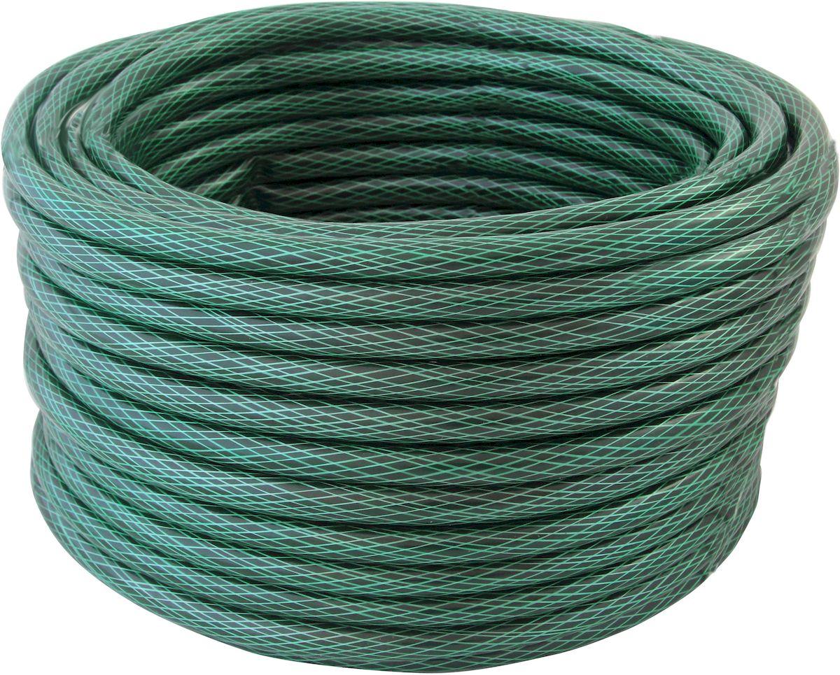 Шланг поливочный Frut, 1/2, цвет: зеленый, 40 м96515412Диаметр: 1/2, длина: 40 м.Трехслойный, с плетеным (армированным) слоем для повышения прочности и увеличения срока использования. Допустимое давление: 8 bar. Рабочее давление: 2 bar. Допустимая температура: от -5 до +35?C. Предназначен для общего бытового применения и садовых работ.