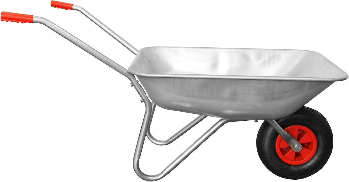 Тачка садовая Frut, 65 л. 436003D14819455Садовая тачка Frut предназначена для перемещения твердых и сыпучих материалов в саду. Оцинкованная сталь, из которой тачка изготовлена, делает ее прочной, долговечной и обеспечивает длительный срок службы. Колеса тачки при необходимости можно накачать. Размер корыта - 82 х 67 х 25 см, объем - 65 л. Грузоподъемность - 130 кг.