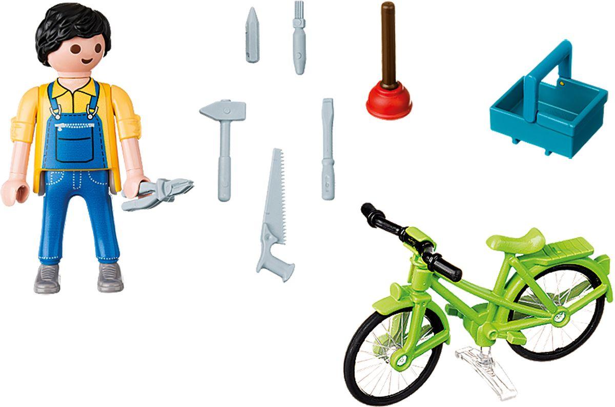 Playmobil Игровой набор Мастер с инструментами на велосипеде