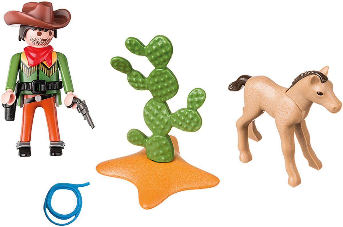 Playmobil Игровой набор Ковбой с жеребенком