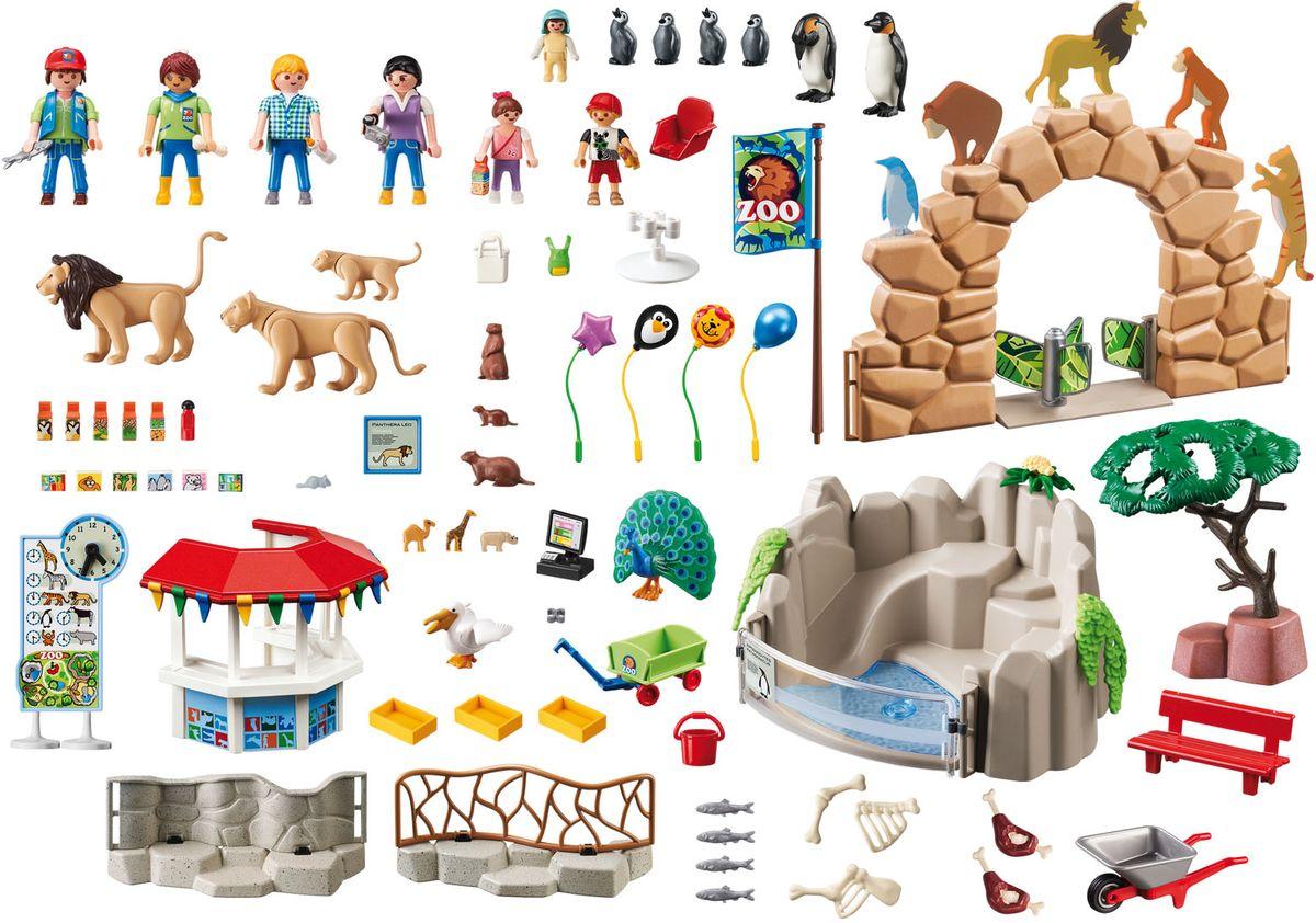 Playmobil Игровой набор Мой большой зоопарк schleich игровой набор пещера со львом