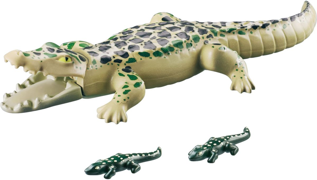 Playmobil Игровой набор Зоопарк Аллигатор с детенышами playmobil игровой набор мой большой зоопарк