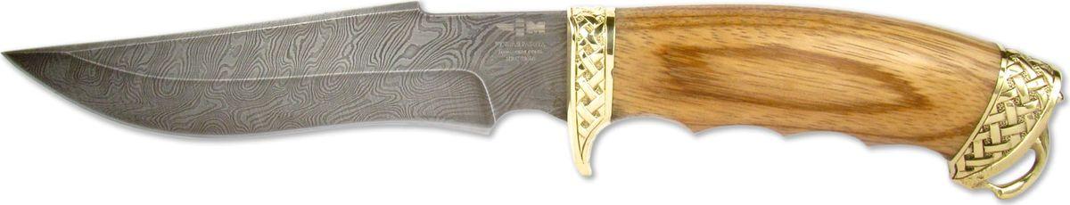 Нож нескладной Ножемир Кардинал, дамасская сталь, с ножнами, общая длина 28 смКАРДИНАЛ (8016)дАртикул КАРДИНАЛ (8016)дбренд Ножемир Россиядлина клинка, мм 151толщина клинка, мм 2,3общая длина, мм 280материал рукояти зебранохудожественное литьё латуньножны кожасталь дамасктвёрдость стали, hrc 59 — 60упаковка брендированная картонная коробкаразмер упаковки, см 33 х 5 х 7,5