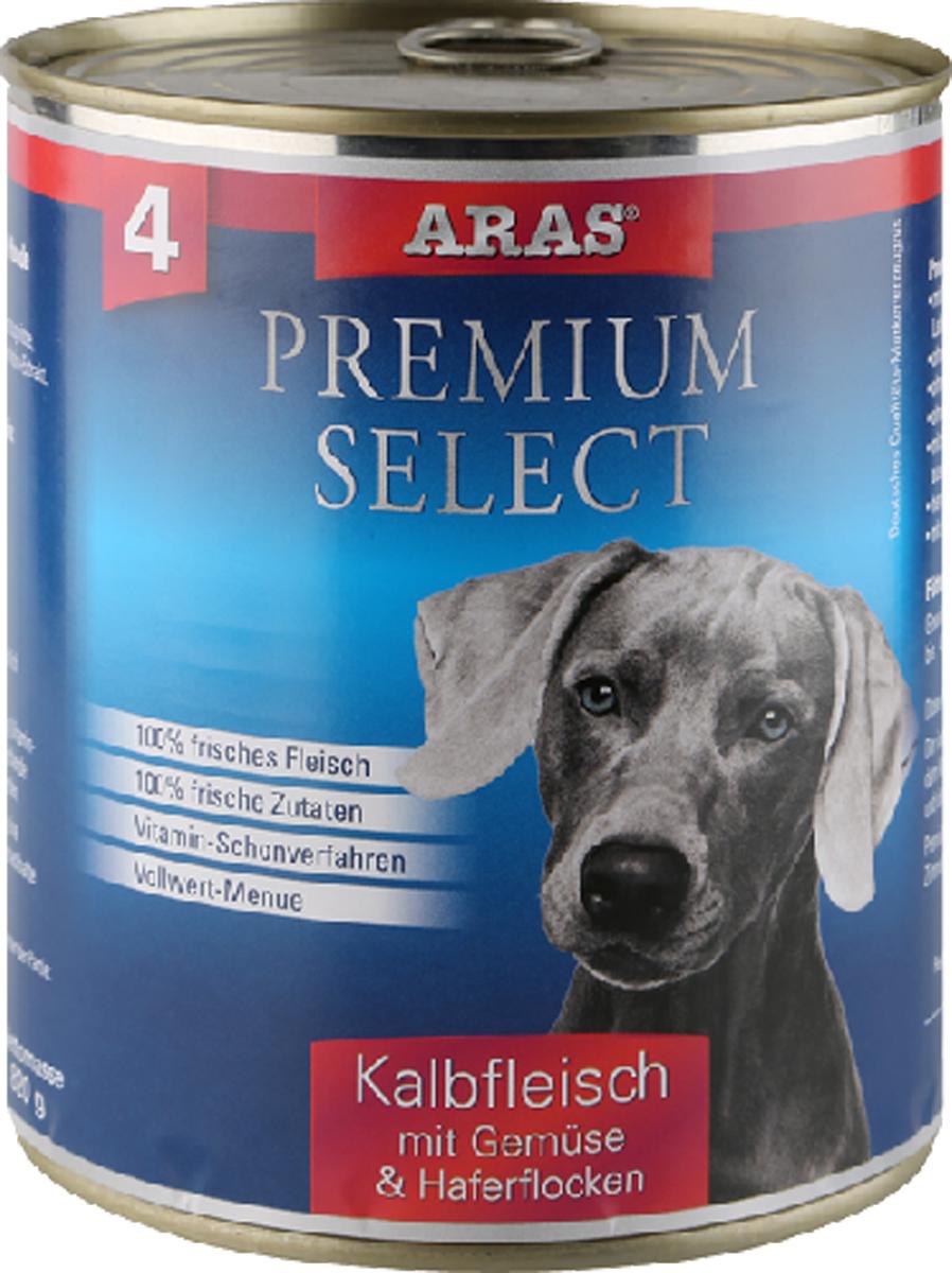 Консервы для собак Aras Premium Select, с телятиной, овощами и овсяными хлопьями, 820 г5649011Консервы для собак Aras Premium Select - повседневный консервированный корм для собак всех пород и всех возрастов. Бережная обработка отборных ингредиентов высочайшего качества, используемых при изготовлении корма, обеспечивает вашего питомца здоровым и сбалансированным питанием. Благодаря содержанию высококачественного белка, полученного из свежего мяса, вашему питомцу требуется меньшее количества корма, чем кормов других марок. Особенности корма: - 80% содержание мяса- Изготовлен из 100% свежего мяса, пригодного в пищу человеку- Без химических красителей и усилителей вкуса- Без консервантов- Без химических добавок- Из 100% свежих ингредиентов- С экстрактом масла зародышей пшеницы холодного отжима- Сохранение натуральных витаминов в процессе изготовления- Гарантия свежестиСостав: свежее мясо телятины 92%, овощи (морковь, лук-порей) 4%, овсяные хлопья 3%, экстракт зародышей пшеницы холодного отжима 1%.Пищевая ценность: белки 12,6%, жиры 6,6%, зола 1,9%, клетчатка 0,8%, влажность 77,6%.Товар сертифицирован.