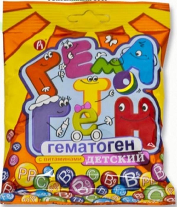 Гематоген детский уп.100г218189БАД, общеукрепляющее, противоанемическое, дополнительный источник железа. Сфера применения: Витаминологияжелезо