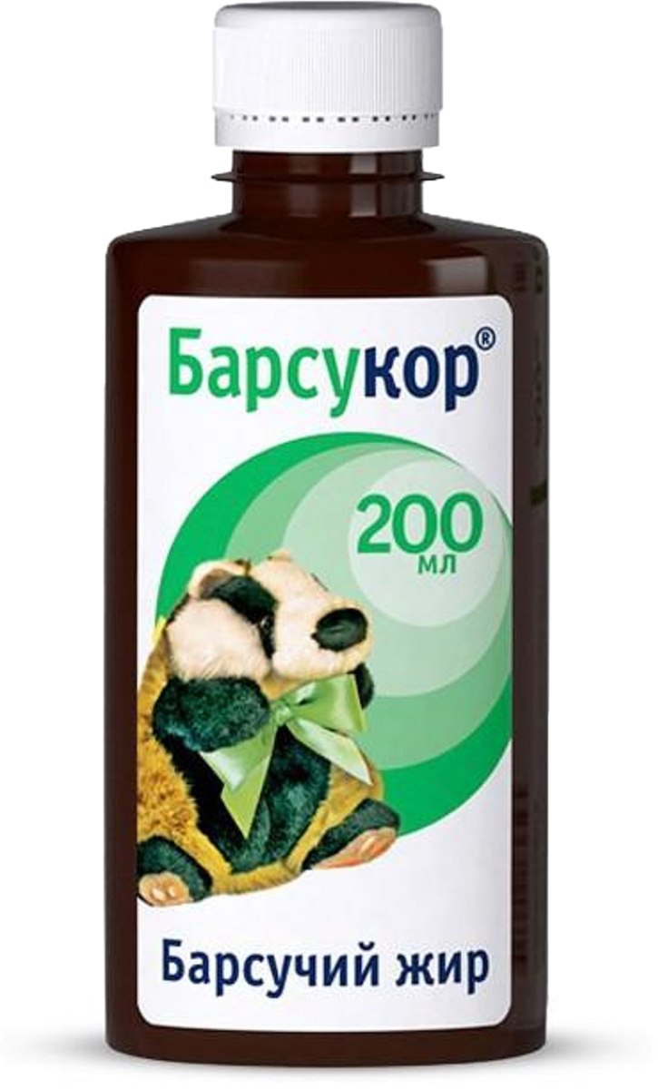 Барсукор Барсучий жир жидкий флакон 200 мл220673Барсучий Барсукор жир помогает восполнить дефицит жирных кислот и жирорастворимых витаминов в организме. Сфера применения: РевматологияХондропротектирующее