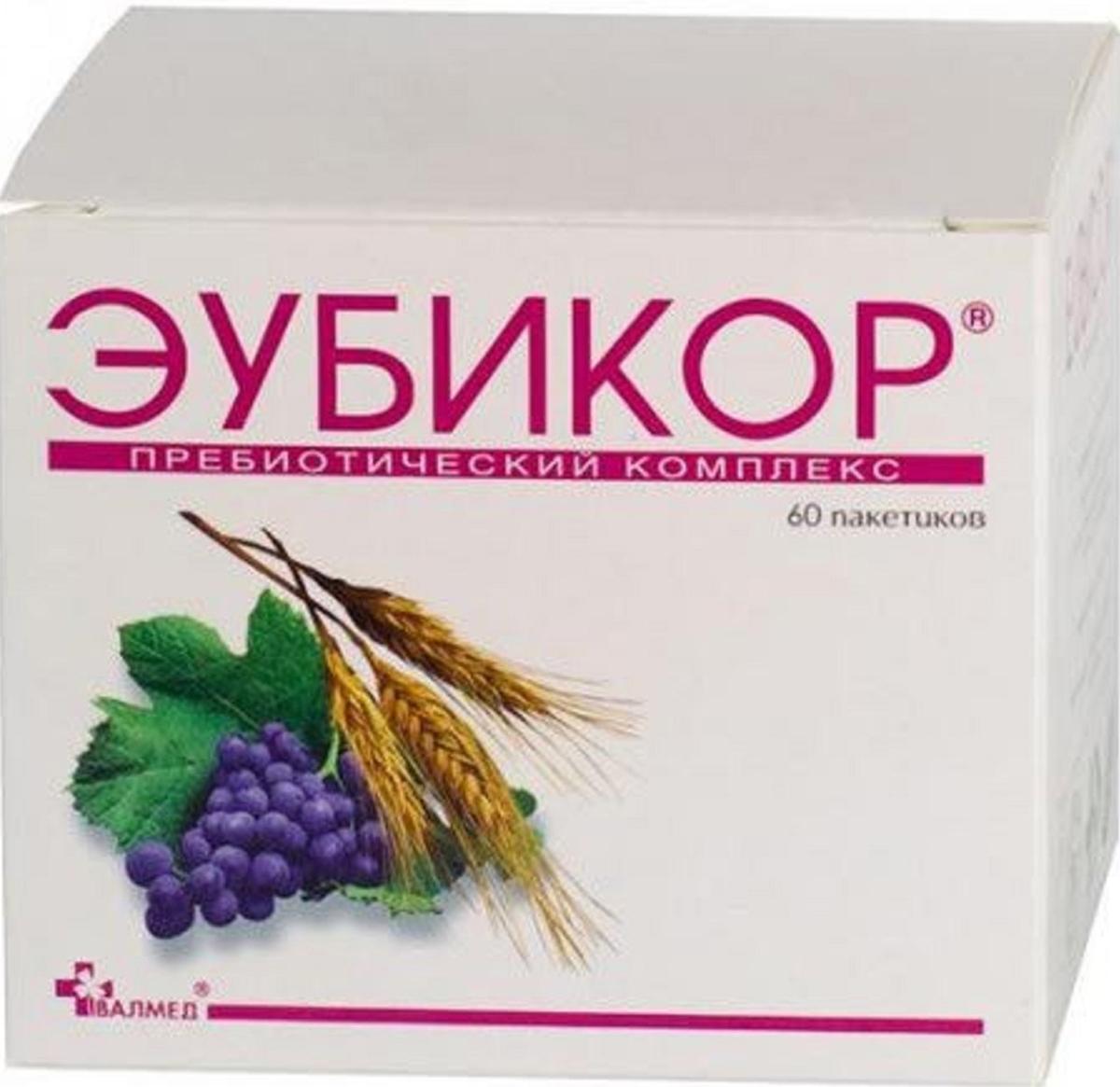 Эубикор порошок пакетики 3г №6028552Сфера применения: ГастроэнтерологияПрепараты для желудочно-кишечного тракта