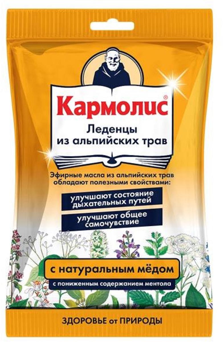 Кармолис леденцы с медом 75г10Кармолис леденцы с мёдом оказывают иммуномодулирующее, противовирусное, антисептическое, отхаркивающее, противовоспалительное, болеутоляющее, анксиолитическое, седативное, ветрогонное, желчегонное, спазмолитическое действие. Леденцы Кармолис созданы по старинному рецепту из 10 альпийских трав. Это уникальное мягкое лечебное средство, применяемое для лечения и профилактики простуды, при расстройстве желудка, упадке сил и т.д. Сфера применения: ОториноларингологияПротив гриппа и простуды