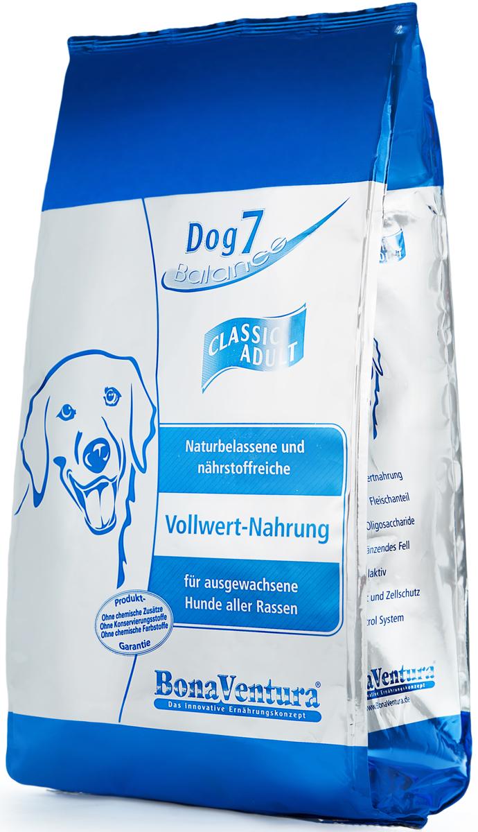 Корм сухой BonaVentura Dog 7 Classic Adult для взрослых собак, 5 кг0120710Натуральный корм для собак BonaVentura Dog 7 Classic Adult произведен из продуктов, пригодных в пищу человека по специальной технологии, схожей с технологией Sous Vide. Благодаря технологии при изготовлении сохраняются все натуральные витамины и минералы. Это достигается благодаря бережной обработке всех ингредиентов при температуре менее 80 градусов. Такая бережная обработка продуктов не стерилизует продуктовые компоненты. Благодаря этому корма не нуждаются ни в каких дополнительных вкусовых добавках и сохраняют все необходимые полезные вещества.При производстве кормов используются исключительно свежие натуральные продукты: мясо, овощи и зерновые; Приготовлено из 100% свежего мяса, пригодного в пищу человеку; Содержит натуральные витамины, аминокислоты, минеральные вещества и микроэлементы; С экстрактом масла зародышей зерна пшеницы холодного отжима (Bio-Dura); Без химических красителей, усилителей вкуса, искусственных консервантов и химических добавок; Без ГМО; Без мясокостной муки; Без сои.Товар сертифицирован.